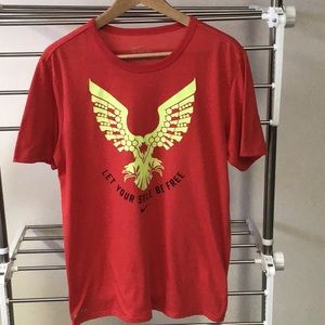 Nike Sri fit red tee with yellow decal